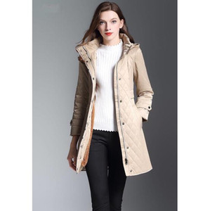New Style UK Women Fashion England Middle Long Cotton Padded Trench Coat London Designer Double Breasted Jacket for Women Size S-XXL