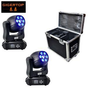 2 Pcs 120W LED com caso do ponto Moving Head Light / EUA Luminums DJ Raio de Luz Led gobo cabeças moving lights super brilhante lâmpada LED DJ Mancha