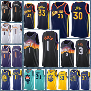 Stephen 30 Curry James 33 Etat de Wiseman GoldenGuerriersJerseys Chris 3 Paul Devin 1 Booker Charles 34 Barkley Basketball Jersey