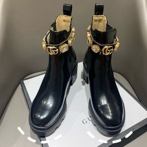 2021 high quality women's leather shoes with lace-up ribbon belt buckle ankle boots factory outlet women's thick heel round toe autumn and w