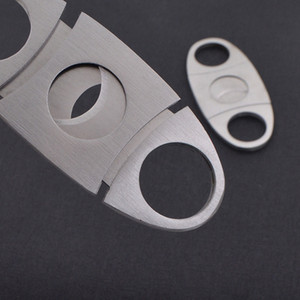 Stainless Steel Cigar Cutter Knife Portable Small Double Blades Cigar Scissors Metal Cut Cigar Devices Tools Smoking Accessories