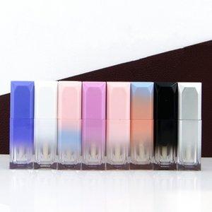 Color degradado Vacío Lipgloss Tube 5ml Botellas de brillo de labios recargables con varita Muestra Reutilizable Botella de bálsamo de labios GWD4456