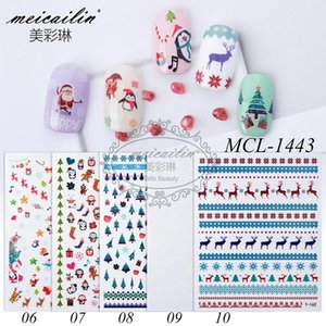 5pcs Mixed Design Winter Snowflake Christmas Nail Sticker DIY Tattoo Art Self-adhesive Decals Manicure Decoration Accessory
