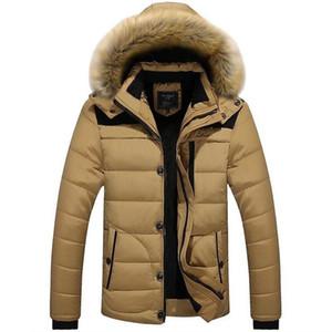 Winter Men's Coat Parkas Large Size Casual Men Faux Fur Hooded Warm Coat Solid Long Sleeve Male Zipper Puffer Jacket Men