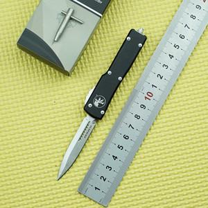 Förderung von MicroTech UTX -70 Automatic Messer D2 Blade High-Tech-Hartmetall-Crusher-Taschenmesser mit Aluminiumgriff Automatisches EDC-Werkzeug