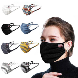 The spotted striped American flag  face mask dust-proof Reusable Cloth Protection Anti Dust Protective Masks OWD2801