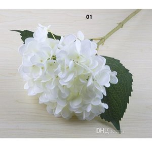 Artificial Hydrangea Flower Head 47cm Fake Silk Single Hydrangeas for Wedding Centerpieces Home Party Decorative Flowers wedding