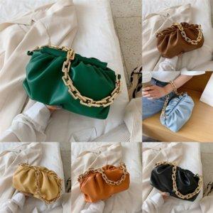 BAGSHOURDER Fashion Paper Real Cloud Bag Donne Donne Famous Bag Borsa Cloud Borsa Crossbody Pelle Clip Dumpling clip # 5962