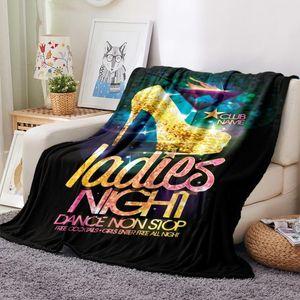 High Heels Flannel Blanket 3D Print Cartoon Makeups Fleece Blanket Nap Office Throw Picnic Travel Sofa Soft