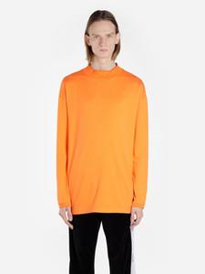 20ss Mujeres y para hombre camisetas Hip-Hop Brand Designer Long camiseta Bordado Ruso Sección de personalidad Cabeza Cuello redondo Camisas de manga larga