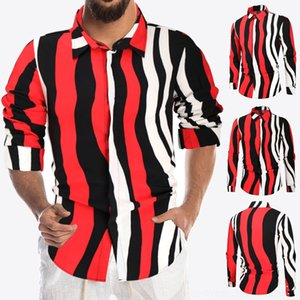 P0zt Dress Shirts Turn Embroidery Down Collar Camicie a maniche lunghe Mens Fashion Designer