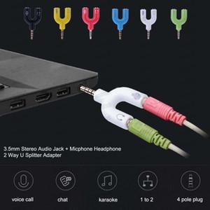 3.5mm Splitter Stereo Plug Square STEREO STEREO AUDIO MIC Cuffie Auricolari Adattatori per smartphone MP3 MP4 Player GRATIS DHL