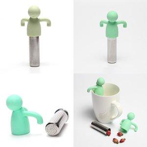 Color puro Filtro de té de silicona Encantador Humanoide Acero inoxidable 304 colador Originalidad Familia PRÁCTICA GADGETS NUEVOS PRODUCTOS 5 3HY J2