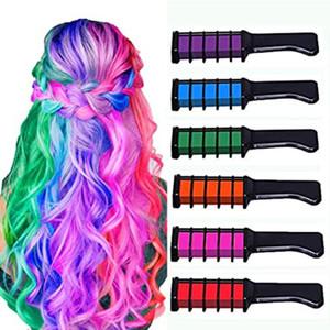 Top qualité Crayons colorés Colory Colory pour enfants Femme Homme Craie Craie Couleur temporaire Couleur Couleur Temporaire Couleur 12 Couleurs 1PCS DIY Colorant à cheveux brillant