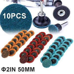 10Pcs 50mm 60 80 100 150 180 240 Grit Sanding Dic Roll Lock Sanding Roloc Disc Fine Medium Coarse Abrasive Sandpaper Rotary Tool