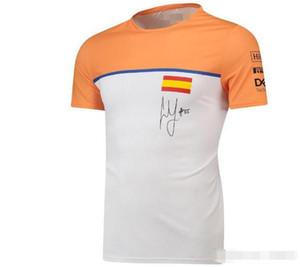 F1 2020 Norris Traje cuesta abajo de Norris Cuello redondo Camiseta de manga corta Traje de carreras Secado rápido Secado rápido Top transpirable Pers