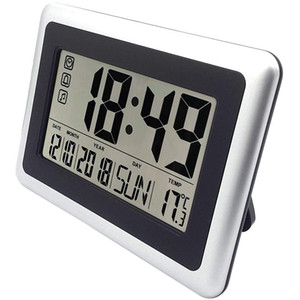 Hot Large Display Digital Wall Clock,Silent Desk Shelf Clocks Battery Operated Easy To Read Nightstand Alarm Clock With No Night