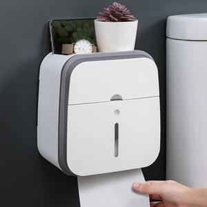 Toilet toilet toilet paper shelf wall mounted suction box non punching creative waterproof tissue holder