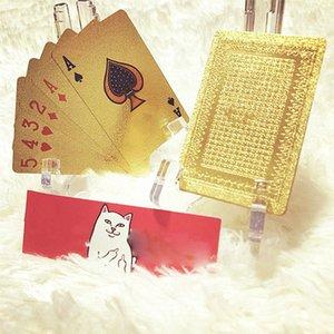 2013fw clássico pôquer cartão de jogo dourado gelado laser de alta temperatura em relevo cartão de poker impermeável 57 * 87 (mm)