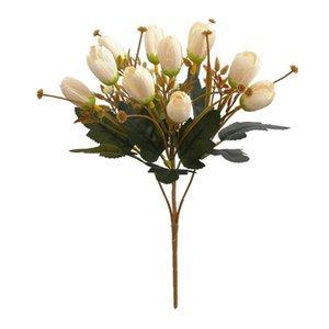 1 Bouquet Home Fake Flowers Silk Flower Banquet Party Decor 31cm Tulip Artificial Flower Vivid Eye-catching 10 Heads