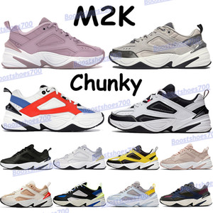 Zoom M2K tekno fashion shoes men women chunky sneakers atmosphere grey black white pure platinum sail plum chalk mens running trainers