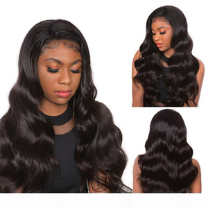 Body Wave Wig 360 Lace Wig Brazilian Remy Hair Pre Plucked Hairline With Baby Hair 130%~180% Density Adjustable Hat Circumference 8~24 inch
