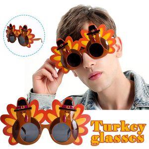 Thanksgiving Turkey Sunglasses Props Cartoon Eyeglasses Autumn Costume Glasses for Party Accessories Decoration PR Sale