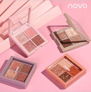 New makeup four colors eyeshadow matte pearl bronzer eye shadow palette mini eye glitter pigment powder