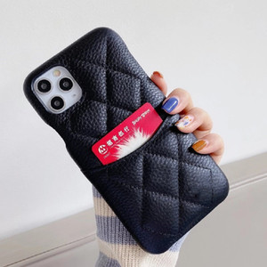 Mode Paris Designer-Telefonkasten für iPhone 12 12Pro Max XS XR XSMAX High-Grade Echte Leder Kartenhalter Telefon Fall für iPhone 11