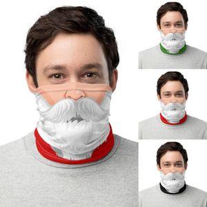 Christmas Face Shield Bandana Face Mask Santa Claus Outdoor Sports Headscarf Headband Visor Neck Gaiter Christmas Decoration Gifts