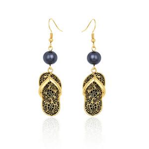 Earrings of Original Design Holiday Gold Earrings Slipper Alloy Drop Turtle Geometric Tortoise Hawaiian Earrings For Women
