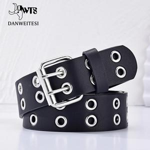 [DWTS] Кожа для женщин Женский Панк Мода пояса Регулируемый ряд отверстий Ушко Waistband Цепные декоративные пояса