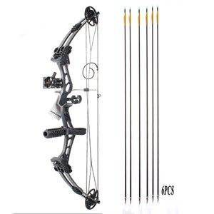 Arco composto e seta para adultos chasse caça junxing arco e flecha tiro arco e flecha setas de carbono caza arc acessórios j1224