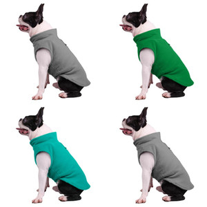 Pure Color Fleece Dogs Clothing Pet Supplies Autumn Winter Keep Warm Fashion Puppy Clothes New Pattern 9 9bl J2