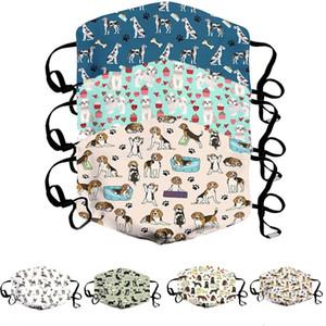 Mode Unisex Gesichtsmasken waschbar atmungsaktive tierdruck Maskenbuchstaben drucken Wiederverwendbare winddichte Anti-Staub-Rad-Masken