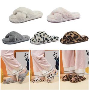 Nidengbao Invierno Zapatillas Mujeres Casa zapatillas de piel de imitación zapatos planos calientes del resbalón femenino en el Tamaño Inicio peludo deslizadores de señoras 36-44 X1020