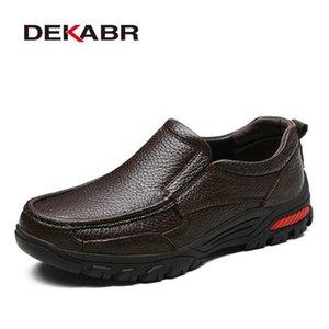 Dekabr mode confortable Respirant souple en cuir véritable cuir Mocassins Chaussures Hommes Haute Qualité Casual Falts hommes Taille Oxfords