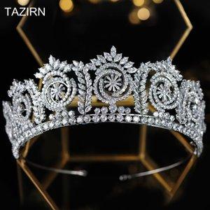 Queen Crowns Zirkonia Tiaras Kristall Frau 2021 Prinzessin Diadem für Pageant Party Hochzeitszubehör Q1124