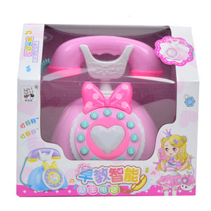 Kids Simulation Electronic Landline Telephone Educational Toys Children Music Sound Pretend Play Toy For Girl Christmas Gift