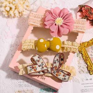Accessori per capelli 3 pz / Set Bambina Bambina Fascia carino Crown Flower Bows Born Headband Toddler Girls Hairband Band