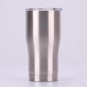20 oz Travel Tumbler Stainless Steel Tumbler Coffee Beer Mugs with Lids Double Wall Vacuum Insulated Waist shape Water Cup Keep Cold