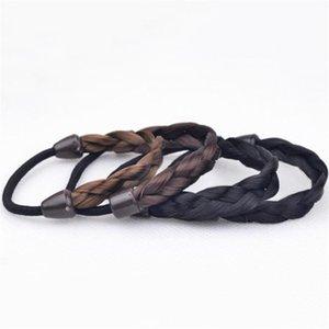 Firkete Kore Saç Halk Yüzük Elastik Örgülü Tontail Wrap Hairband Sabitleme Aksesuarları Sentetik Şapkalar Ponytails Tutucu Saç 13 N2