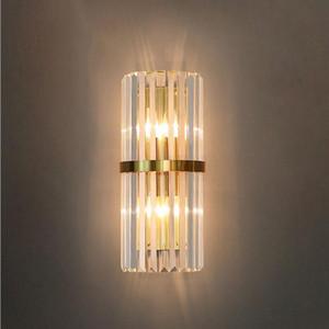 Post Moderno Lampada da parete di lusso Camera da letto accanto al salotto SMORESM CRISTALLO SELEMP SEMPLICE TELEFONDER Sfondo a parete corridoio Crystal E14 Illuminazione