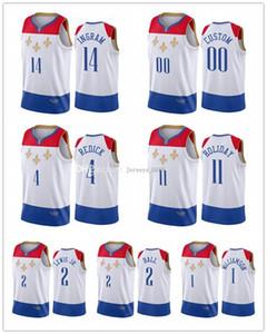 Personalizzato New Orleans Uomo Donna Gioventù Brandon Ingram Lonzo Ball Kira Lewis Jr. Zion Williamson City Fleur-de-lis Jersey di pallacanestro