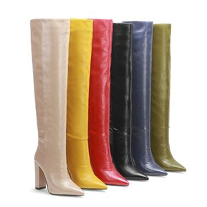 MORAZORA 2020 New arrive fashion high quality over the knee boots sexy pointed toe high heels winter women boots 6 colorsZ1204