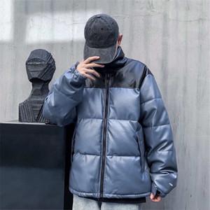 Klasik deri kapalı pamuk yastıklı ceket seçilen ithal deri saf doğal el fiş pamuk tamamen yükseltilmiş işlemeli logo