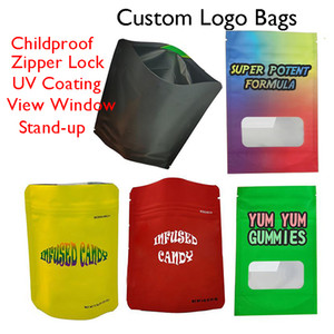 Mylar Zipper Bags Customized E-cigarette Package Retail Childproof Zip Lock Matter Finish Custom Logo Packaging Edibles Candy Empty Pouch