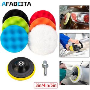 6pcs Buffing Pad Set fil 3 en Auto Voitures de polissage de voiture Pad Kit Polisseuse Drill Adaptateur M10 Outils électriques Accessoires