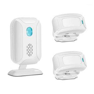 Wireless Alarm Doorbell PIR Store Welcome Entry Chime Home Security Driveway Alarm Infrared Detector Door Bell1