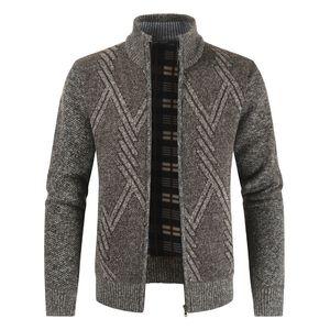 Negizber 2020 Mens Outono-Inverno suporte Casual Collar Grosso Cardigan Moda camisola morna Coats Homens
